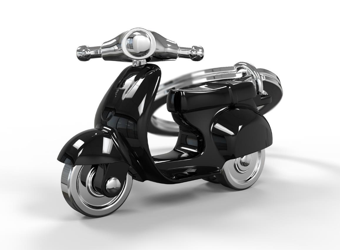keyring scooter silver red black white metalmorphose mtm933 9
