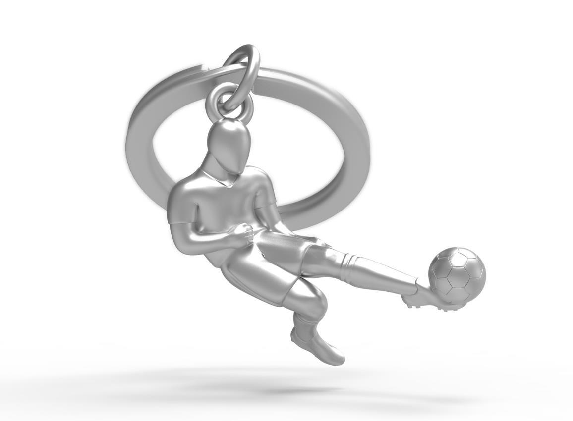 keyring soccer silver metalmorphose mtm281 3