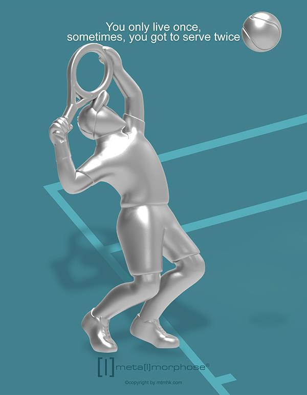keyring tennis silver metalmorphose mtm283 4