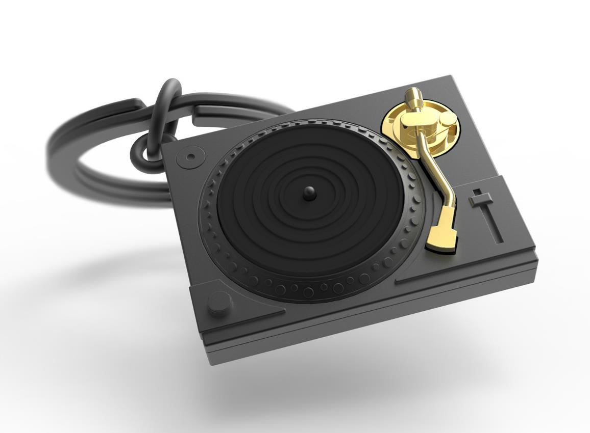 keyring turntable black silver metalmorphose mtm218 1