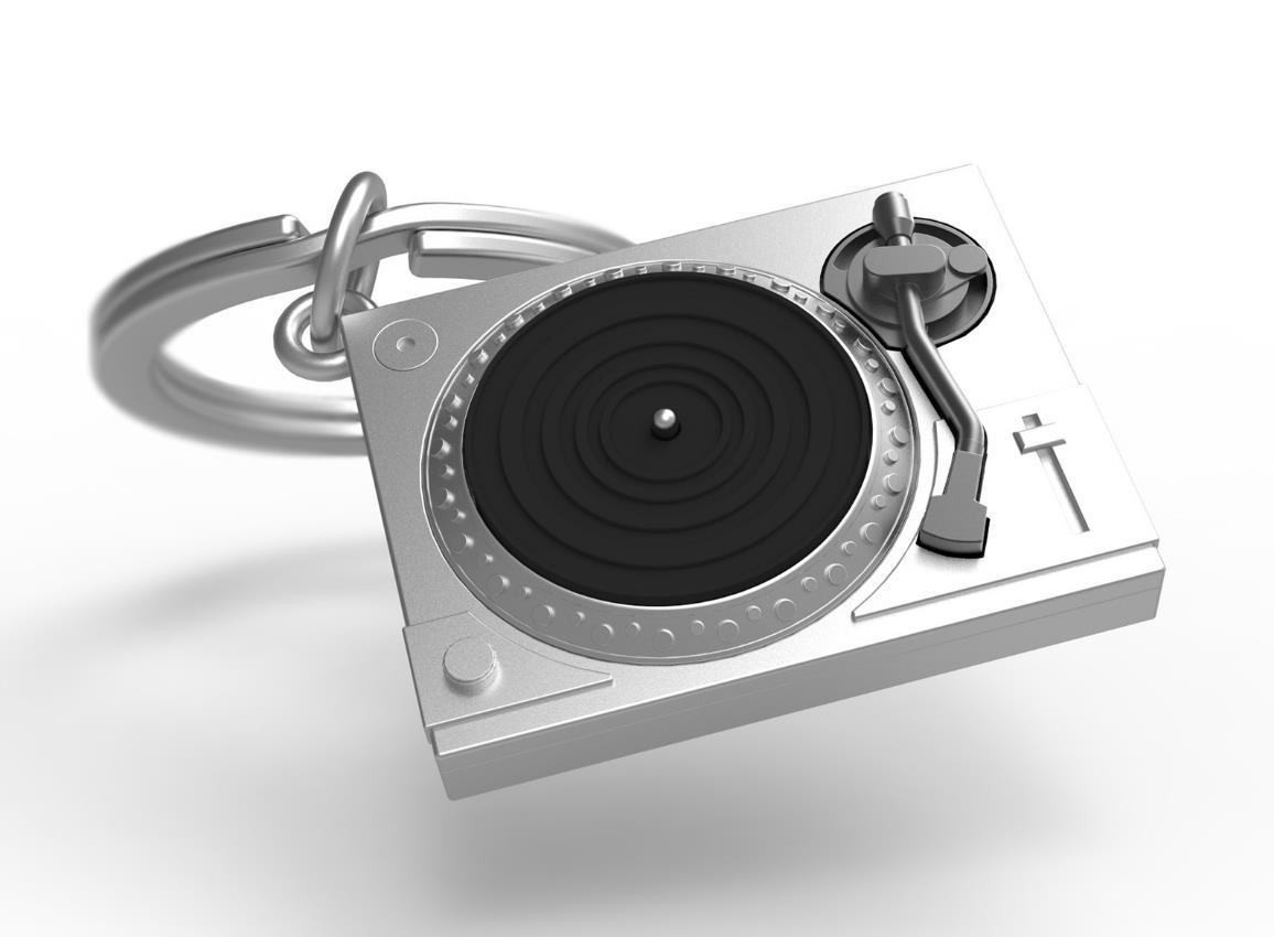 keyring turntable black silver metalmorphose mtm218 4