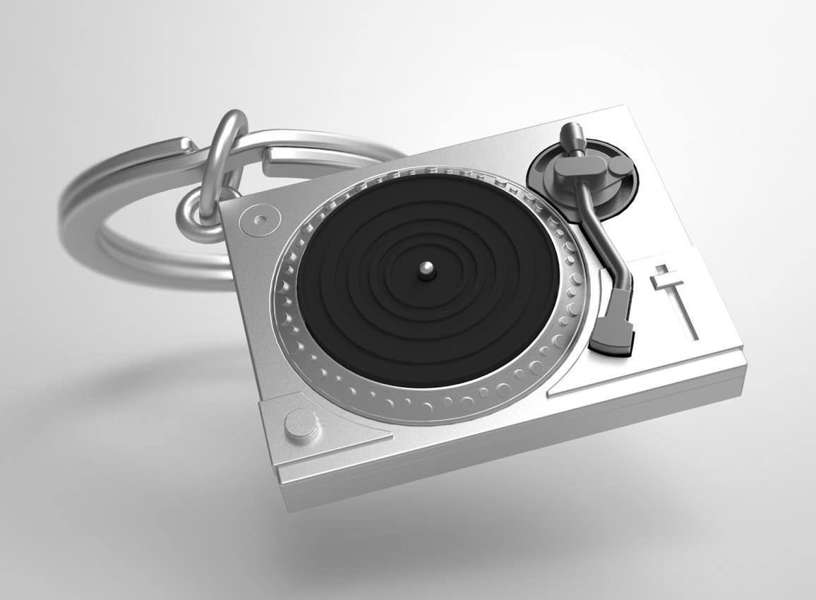 keyring turntable black silver metalmorphose mtm218 5