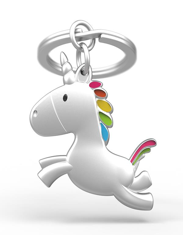 keyring unicorn flying silver metalmorphose mtm115 5