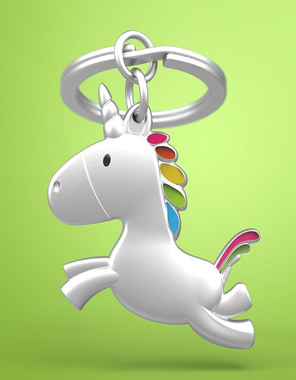 keyring unicorn flying silver metalmorphose mtm115 8